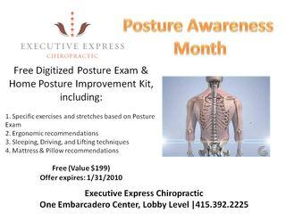 Executive Express Chiropractic: Posture Awareness Month